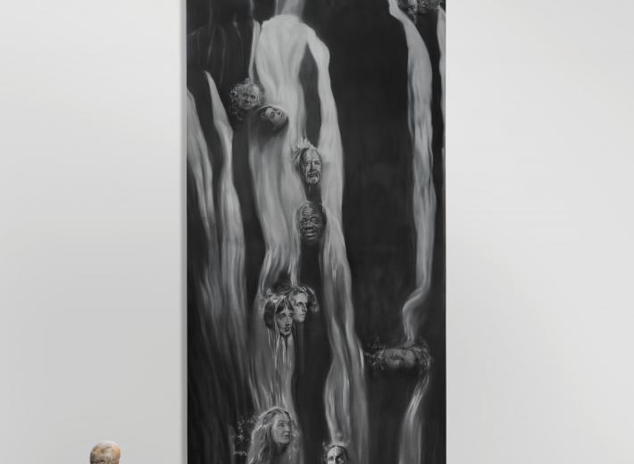 Stephan Balleux - Heraclitus's Waterfall l- 2019 - Oil on canvas - 620 x 200 cm. ph Luk Vanderplaetsen